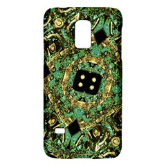 Luxury Abstract Golden Grunge Art Samsung Galaxy S5 Mini Hardshell Case  by dflcprints