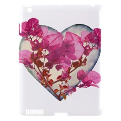 Heart Shaped With Flowers Digital Collage Apple Ipad 3/4 Hardshell Case (compatible With Smart Cover) by dflcprints