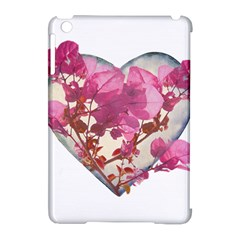 Heart Shaped with Flowers Digital Collage Apple iPad Mini Hardshell Case (Compatible with Smart Cover) by dflcprints
