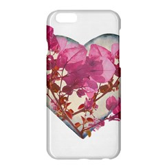 Heart Shaped With Flowers Digital Collage Apple Iphone 6 Plus Hardshell Case by dflcprints