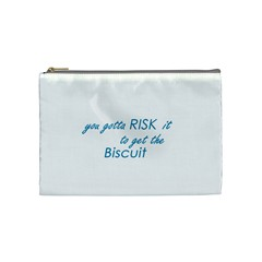 risk it Cosmetic Bag (Medium) by flaminggoats