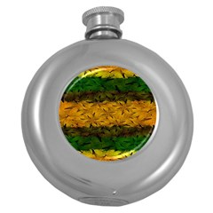 Tribal Floral Pattern Hip Flask (round) by dflcprints
