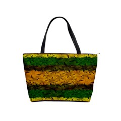 Tribal Floral Pattern Large Shoulder Bag by dflcprints