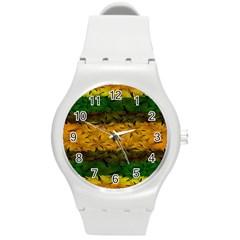 Tribal Floral Pattern Plastic Sport Watch (medium) by dflcprints