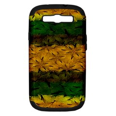 Tribal Floral Pattern Samsung Galaxy S Iii Hardshell Case (pc+silicone) by dflcprints