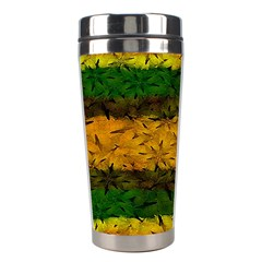 Tribal Floral Pattern Stainless Steel Travel Tumbler by dflcprints