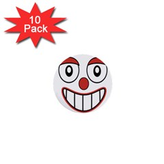 Happy Clown Cartoon Drawing 1  Mini Button (10 Pack) by dflcprints