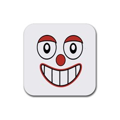 Happy Clown Cartoon Drawing Drink Coasters 4 Pack (square) by dflcprints