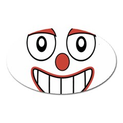 Happy Clown Cartoon Drawing Magnet (oval) by dflcprints
