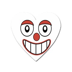 Happy Clown Cartoon Drawing Magnet (heart) by dflcprints