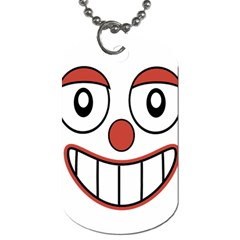 Happy Clown Cartoon Drawing Dog Tag (two Sided)  by dflcprints