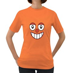 Happy Clown Cartoon Drawing Women s T Shirt (colored) by dflcprints
