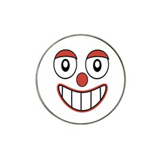 Happy Clown Cartoon Drawing Golf Ball Marker 10 Pack (for Hat Clip) by dflcprints