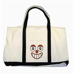 Happy Clown Cartoon Drawing Two Toned Tote Bag by dflcprints