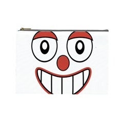 Happy Clown Cartoon Drawing Cosmetic Bag (large) by dflcprints