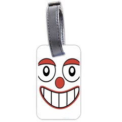 Happy Clown Cartoon Drawing Luggage Tag (two Sides) by dflcprints