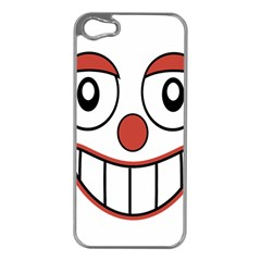 Happy Clown Cartoon Drawing Apple Iphone 5 Case (silver) by dflcprints