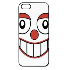 Happy Clown Cartoon Drawing Apple Iphone 5 Seamless Case (black) by dflcprints