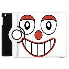 Happy Clown Cartoon Drawing Apple iPad Mini Flip 360 Case by dflcprints