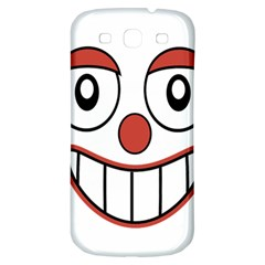 Happy Clown Cartoon Drawing Samsung Galaxy S3 S Iii Classic Hardshell Back Case by dflcprints