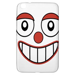Happy Clown Cartoon Drawing Samsung Galaxy Tab 3 (8 ) T3100 Hardshell Case  by dflcprints
