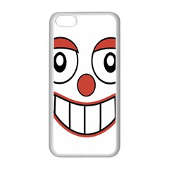 Happy Clown Cartoon Drawing Apple Iphone 5c Seamless Case (white) by dflcprints