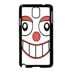 Happy Clown Cartoon Drawing Samsung Galaxy Note 3 Neo Hardshell Case (black) by dflcprints