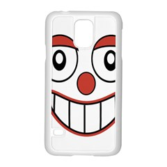 Happy Clown Cartoon Drawing Samsung Galaxy S5 Case (white) by dflcprints