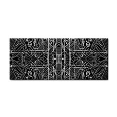 Black And White Tribal Geometric Pattern Print Hand Towel by dflcprints