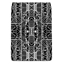 Black And White Tribal Geometric Pattern Print Removable Flap Cover (large) by dflcprints