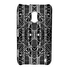 Black And White Tribal Geometric Pattern Print Nokia Lumia 620 Hardshell Case by dflcprints