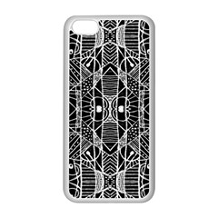 Black And White Tribal Geometric Pattern Print Apple Iphone 5c Seamless Case (white) by dflcprints