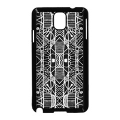 Black And White Tribal Geometric Pattern Print Samsung Galaxy Note 3 Neo Hardshell Case (black) by dflcprints