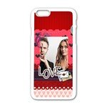love - Apple iPhone 6/6S White Enamel Case
