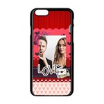 love - Apple iPhone 6/6S Black Enamel Case