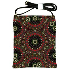 Digital Abstract Geometric Pattern In Warm Colors Shoulder Sling Bag by dflcprints
