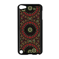 Digital Abstract Geometric Pattern In Warm Colors Apple Ipod Touch 5 Case (black) by dflcprints