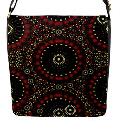 Digital Abstract Geometric Pattern In Warm Colors Flap Closure Messenger Bag (small) by dflcprints