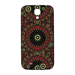 Digital Abstract Geometric Pattern In Warm Colors Samsung Galaxy S4 I9500/i9505  Hardshell Back Case by dflcprints