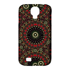 Digital Abstract Geometric Pattern In Warm Colors Samsung Galaxy S4 Classic Hardshell Case (pc+silicone) by dflcprints