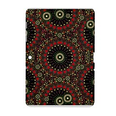 Digital Abstract Geometric Pattern in Warm Colors Samsung Galaxy Tab 2 (10.1 ) P5100 Hardshell Case  by dflcprints
