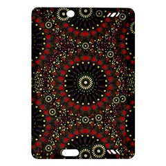 Digital Abstract Geometric Pattern In Warm Colors Kindle Fire Hd (2013) Hardshell Case by dflcprints