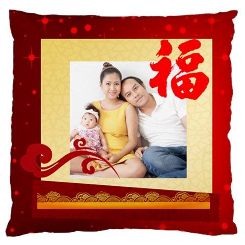 Chinese New Year By Ch   Large Flano Cushion Case (one Side)   Wautwhwu5xf9   Www Artscow Com Front