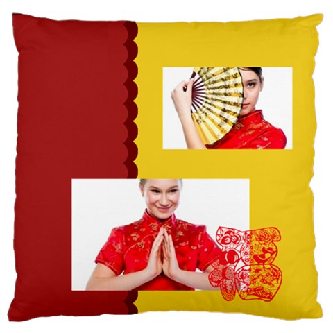 Chinese New Year By Ch   Large Flano Cushion Case (one Side)   2xb8nm8vubd1   Www Artscow Com Front