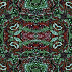 Tribal Ornament Pattern In Red And Green Colors Canvas 12  X 12  (unframed) by dflcprints