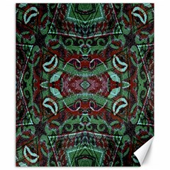 Tribal Ornament Pattern In Red And Green Colors Canvas 20  X 24  (unframed) by dflcprints
