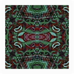 Tribal Ornament Pattern In Red And Green Colors Glasses Cloth (medium, Two Sided) by dflcprints