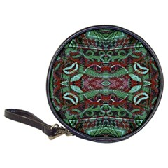 Tribal Ornament Pattern In Red And Green Colors Cd Wallet by dflcprints