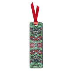 Tribal Ornament Pattern In Red And Green Colors Small Bookmark by dflcprints