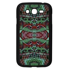 Tribal Ornament Pattern In Red And Green Colors Samsung Galaxy Grand Duos I9082 Case (black) by dflcprints
